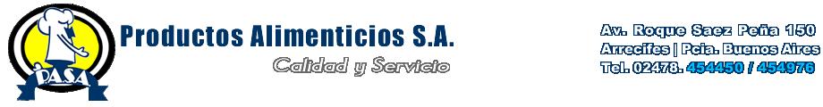 PASA | PRODUCTOS ALIMENTICIOS SA