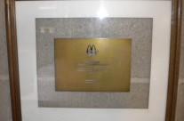 Premio Desarrollo de Productos por Mc Donalds Argentina